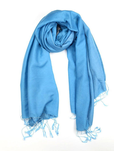 Scarves Default Water Pashmina Shawl in Turquoise fb117