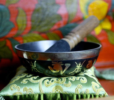 Singing Bowls Default 5 Inch Black Om Mani Bowl sb004