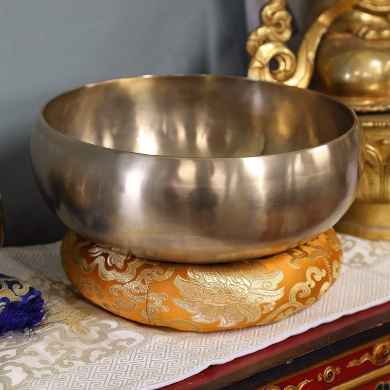 Singing Bowls Golden Orange Large Singing Bowl Ring Cushion SZ027