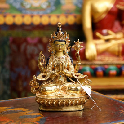 Statues Chenrezig Gold Plated Statue ST263