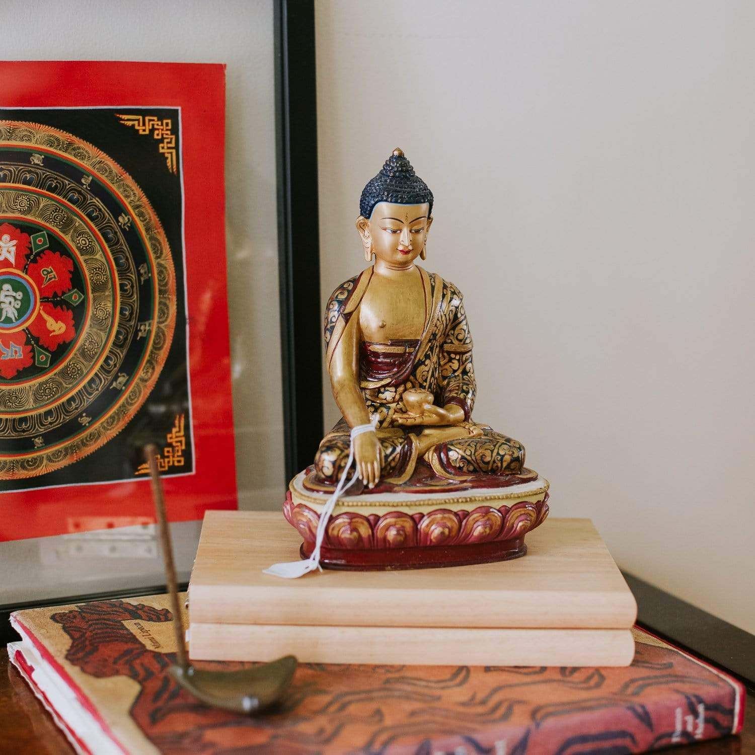 Statues Default One of a Kind Shakyamuni Buddha Hand Painted Statue st086