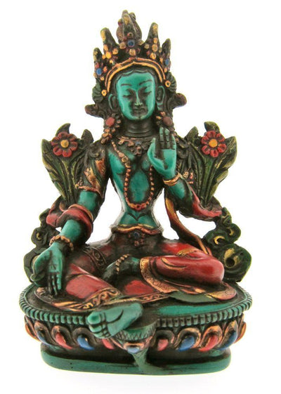 Statues Default Painted Green Tara Statue st046P