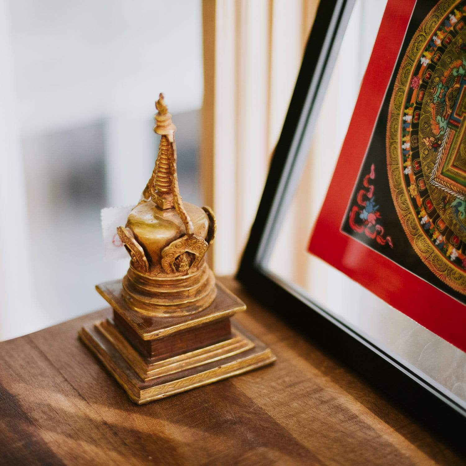 Statues Gold Plated Bronze Stupa RS002