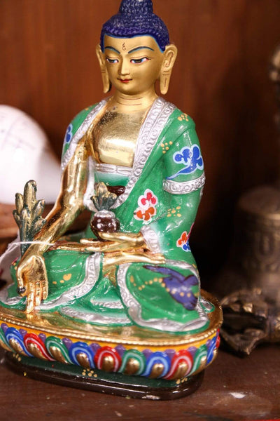 Statues Hand Painted Medicine Buddha Statue ST248-A