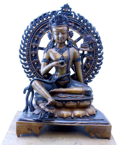 Statues,One of a Kind,New Items,Tibetan Style Default Masterpiece 14 inch Bronze Bodhisattva Statue st060