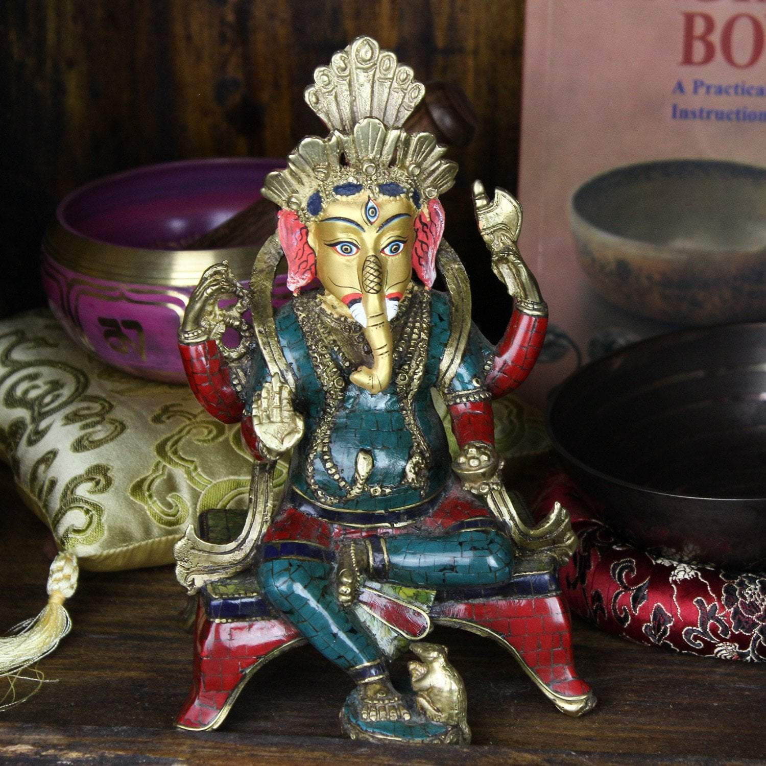 Statues One-of-a-Kind Wise Ganesh Statue ST174