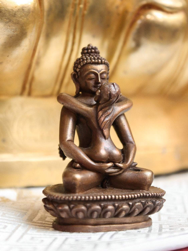Statues Small Copper Wrapped Buddha Shakti Statue ST198