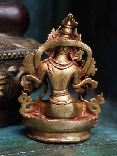 Statues Small Golden White Tara Statue ST203