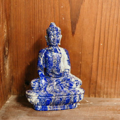 Statues Solid Lapis Medicine Buddha Statue ST223