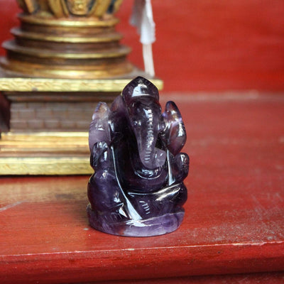 Statues Tiny Amethyst Ganesh Statue ST197