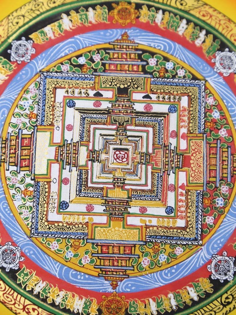 Thangkas Colorful Kalachakra Mandala Thangka TH148