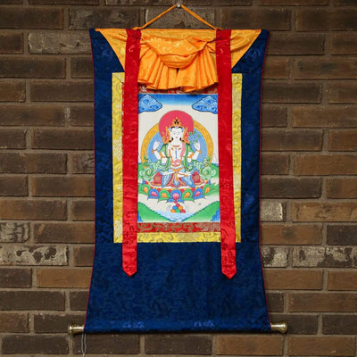 Thangkas Compassionate Chenrezig Framed Thangka TH153