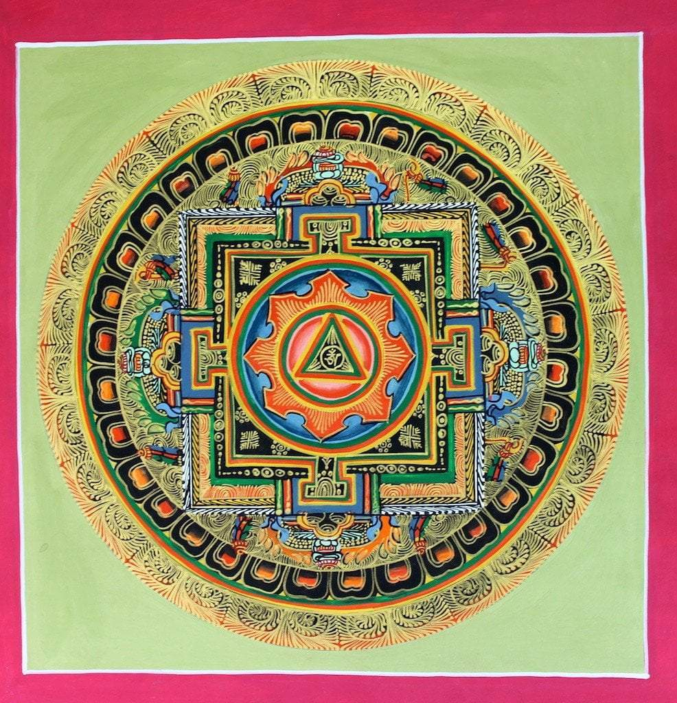 Thangkas Default Om Mandala Sacred Thangka th089