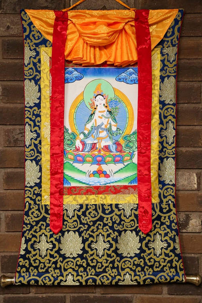 Thangkas Framed White Tara Thangka TH157