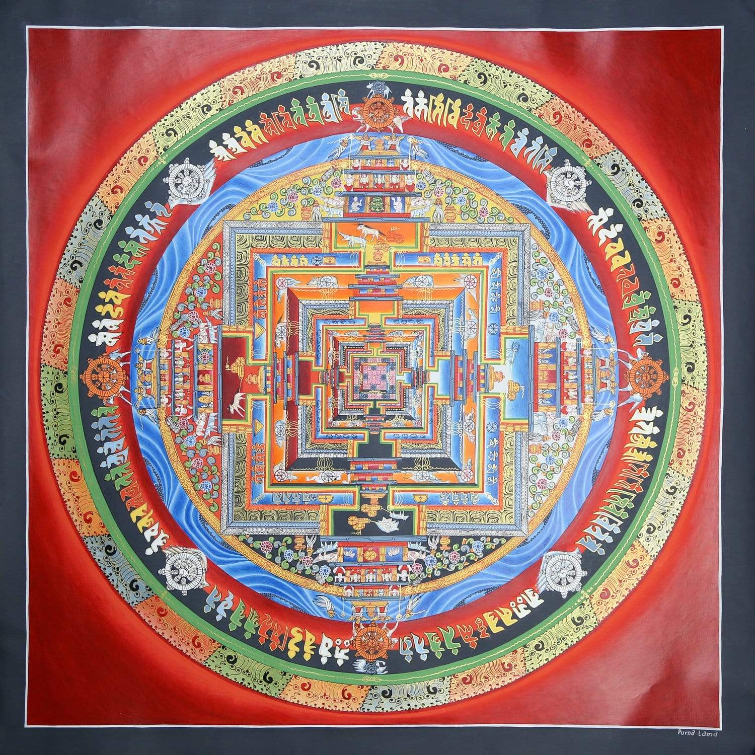 Thangkas Kalachakra Energy Mandala Thangka TH162