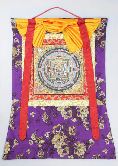 Thangkas Kalachakra Thangka with Brocade TH138