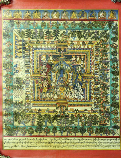 Thangkas Medicine Buddha Masterpiece Mandala TH087