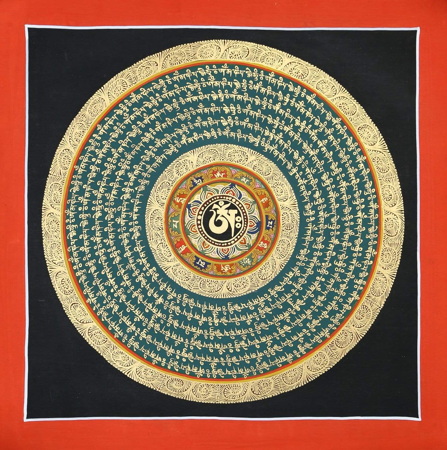 Thangkas Sacred Mantra Tibetan Thangka TH173