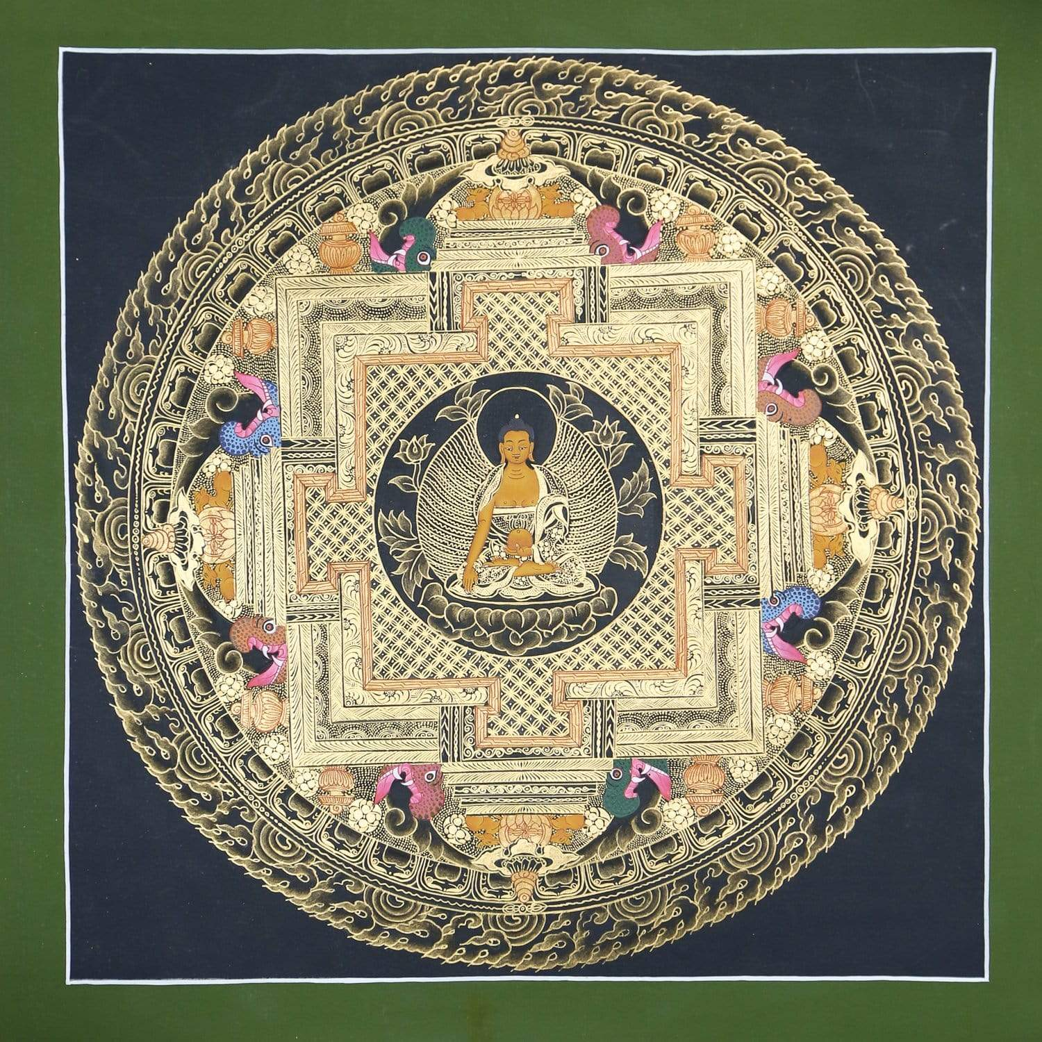 Thangkas Shakyamuni Buddha Sacred Geometry Thangka TH170