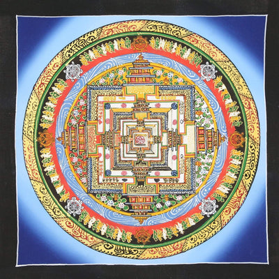 Thangkas Tibetan Kalachakra Mandala Thangka TH149