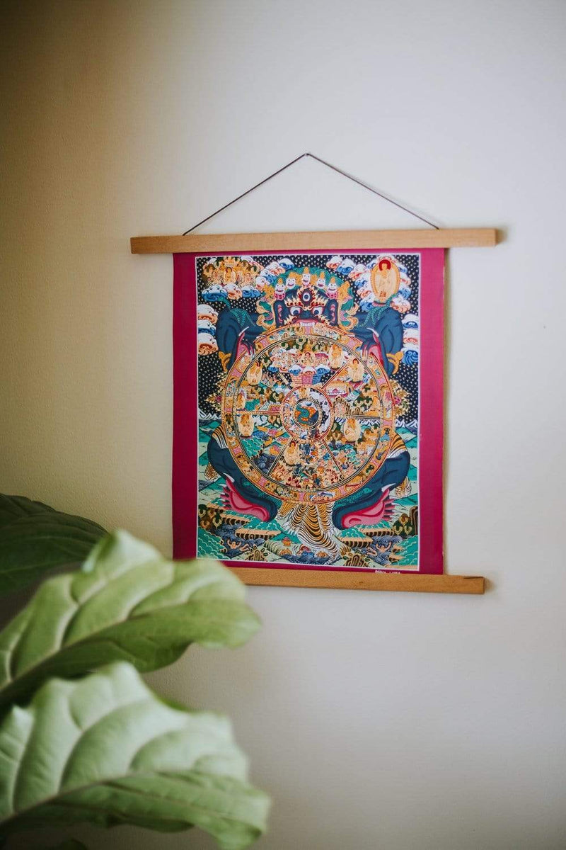 Thangkas Wheel of Life Samsara Thangka TH171