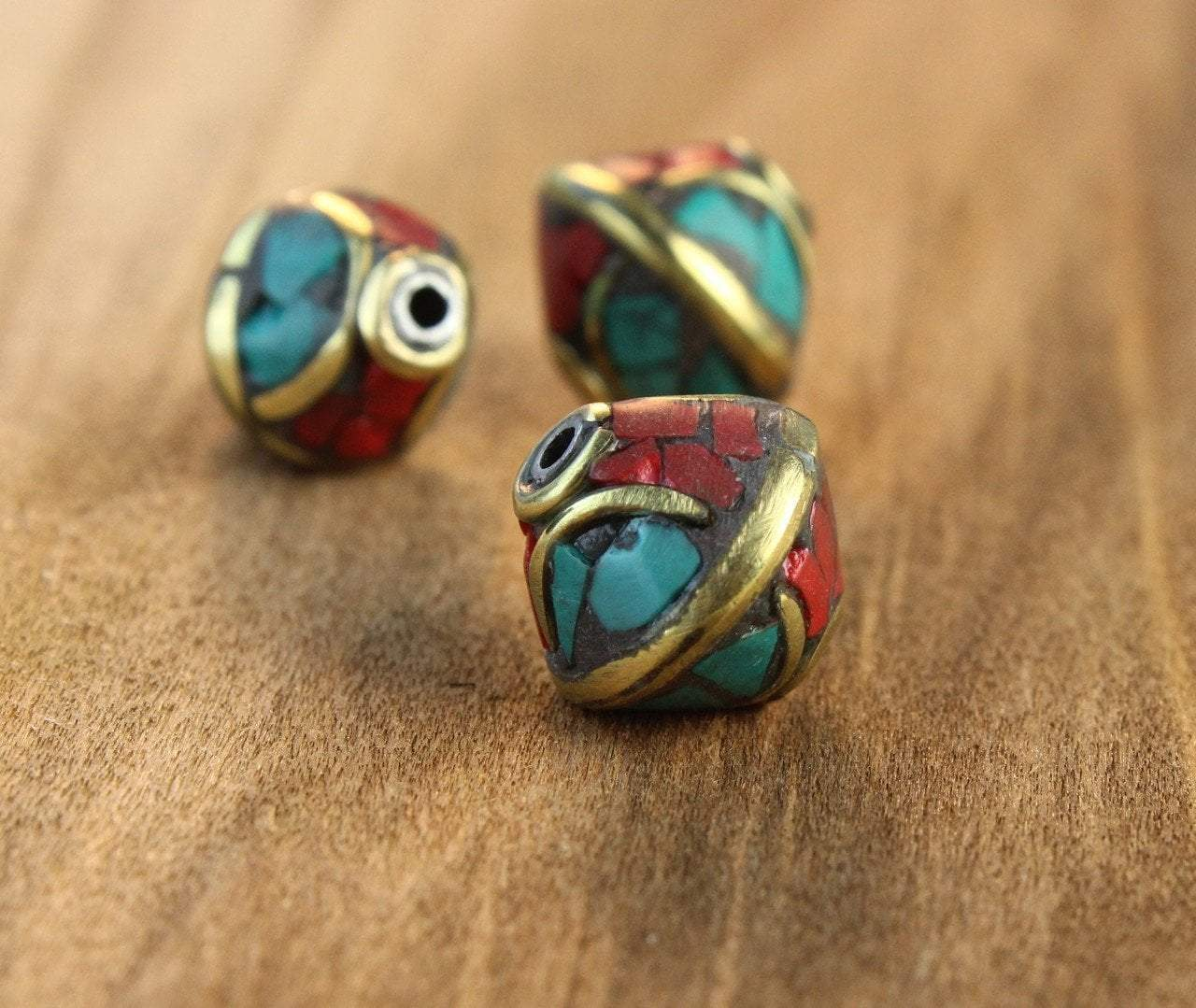 Tibetan Beads Default Alternating Colors Traditional Bead be110