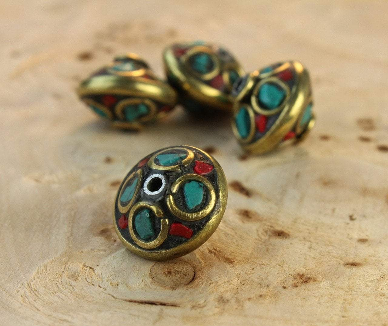 Tibetan Beads Default Kanch Phool Tibetan Bead be107