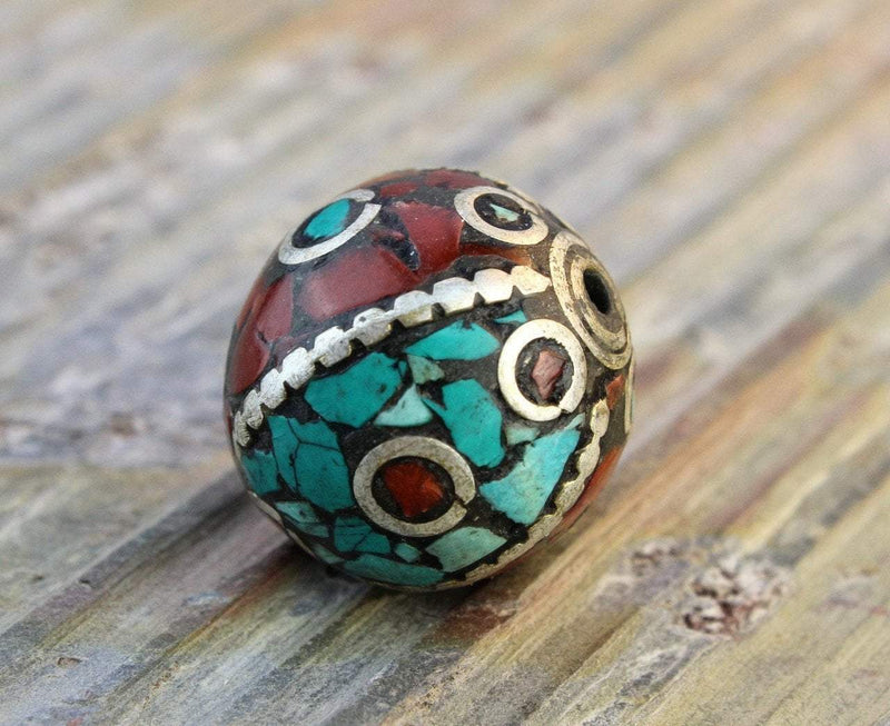 Tibetan Beads Default Traditional Tibetan Bead be125