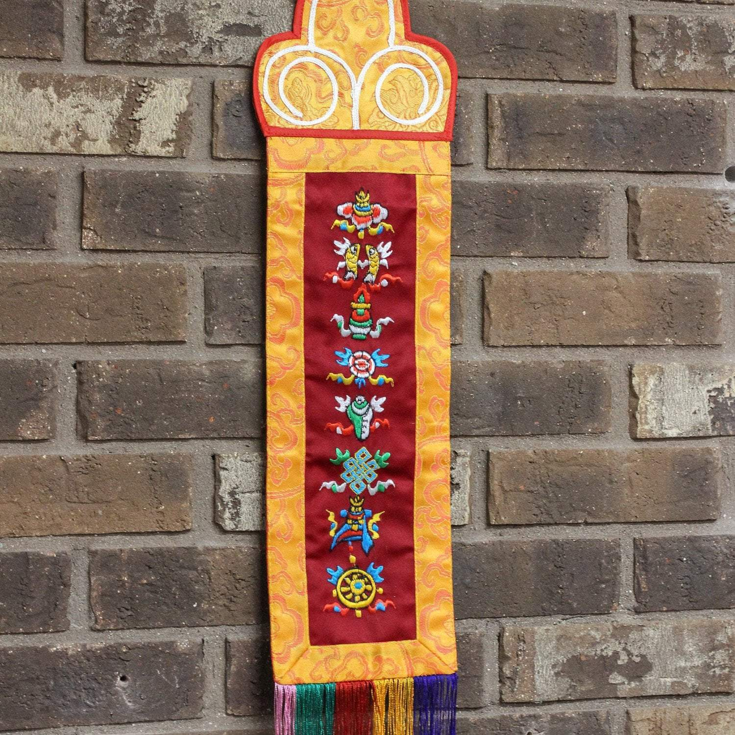 Wall Hanging Lucky Symbols Embroidered Banner FB533
