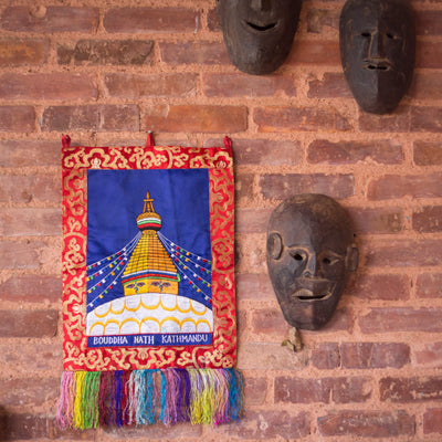 Wall Hangings Boudhanath Embroidered Wall Hanging FB528