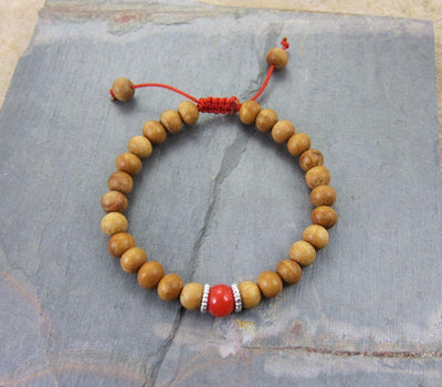 Wrist Malas Default Adjustable Sandalwood Wrist mala wm005