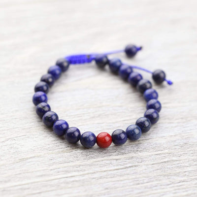 Wrist Malas Default Lapis and Coral Wrist Mala wm031