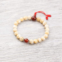 Wrist Malas Default Mother of Pearl and Carnelian Wrist Mala wm202