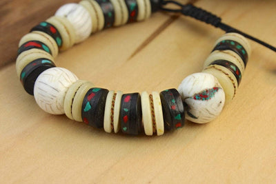 Wrist Malas Default Naga Shell and Bone Wrist Mala WM392