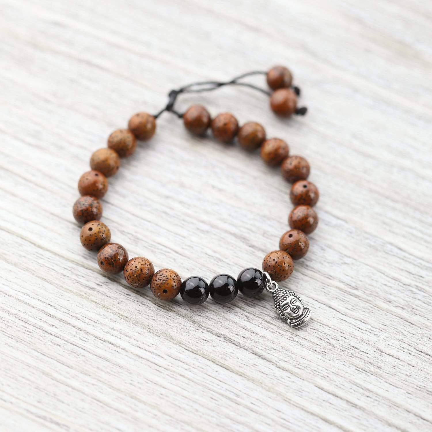 Wrist Malas Default Onyx and Lotus Seed Wrist Mala wm295