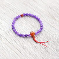 Wrist Malas Default Unique Amethyst and Carnelian Wrist Mala wm270