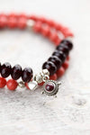 Wrist Malas Garnet Root Chakra Double Wrap WM459