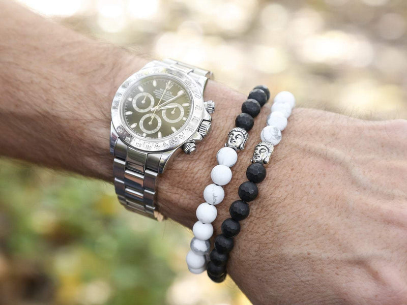 Wrist Malas Small Double Wrap Tranquility Men's Mala MB006.SM