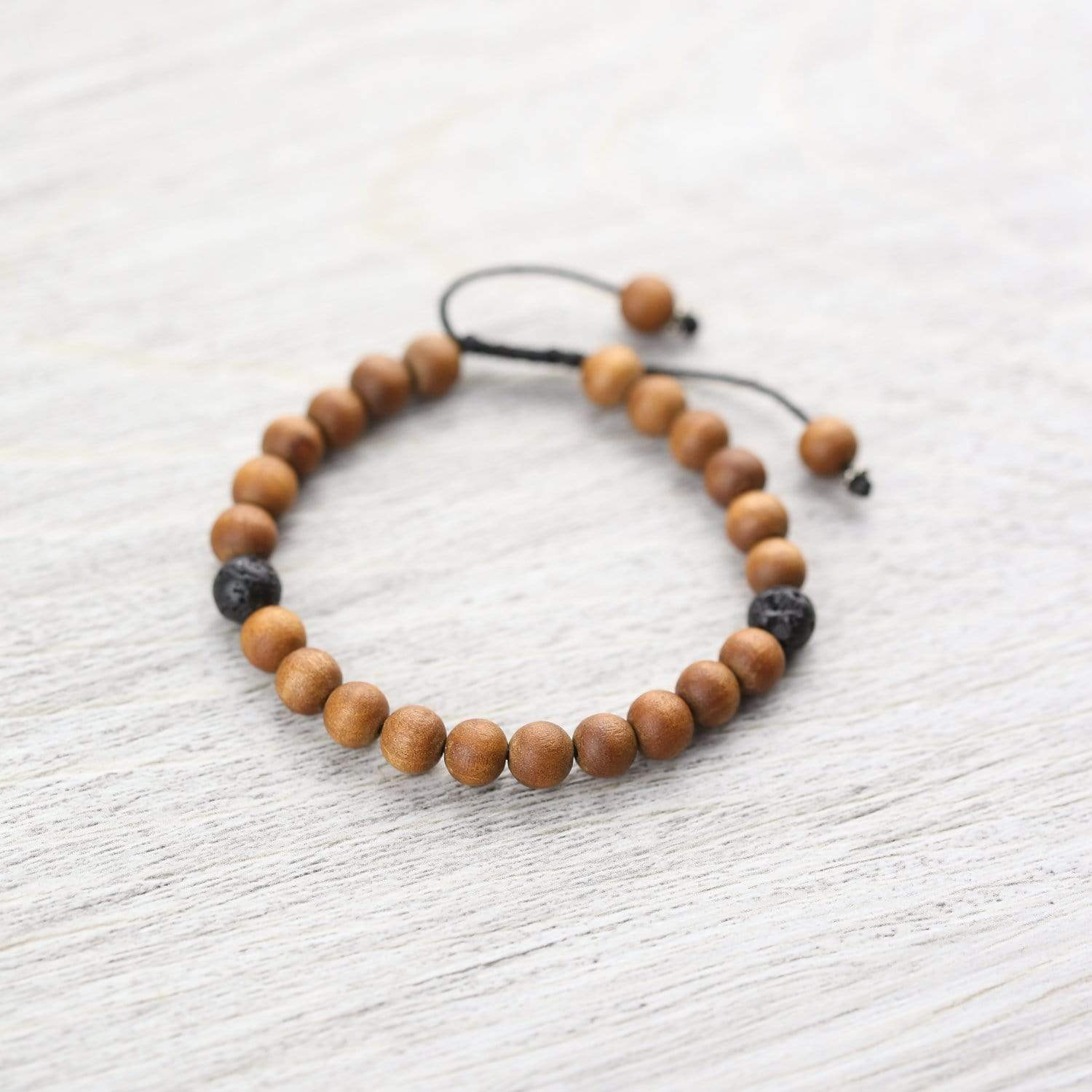 Wrist Malas Sweet Sandalwood and Lava Rock Bracelet WM446