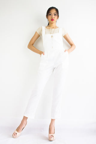 Taylor Tapered Dungarees in White