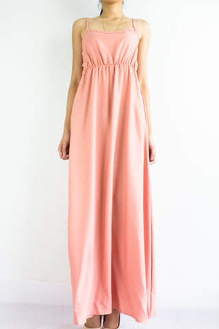 Elena Empire Waist Maxi Dress in Peach Nectar
