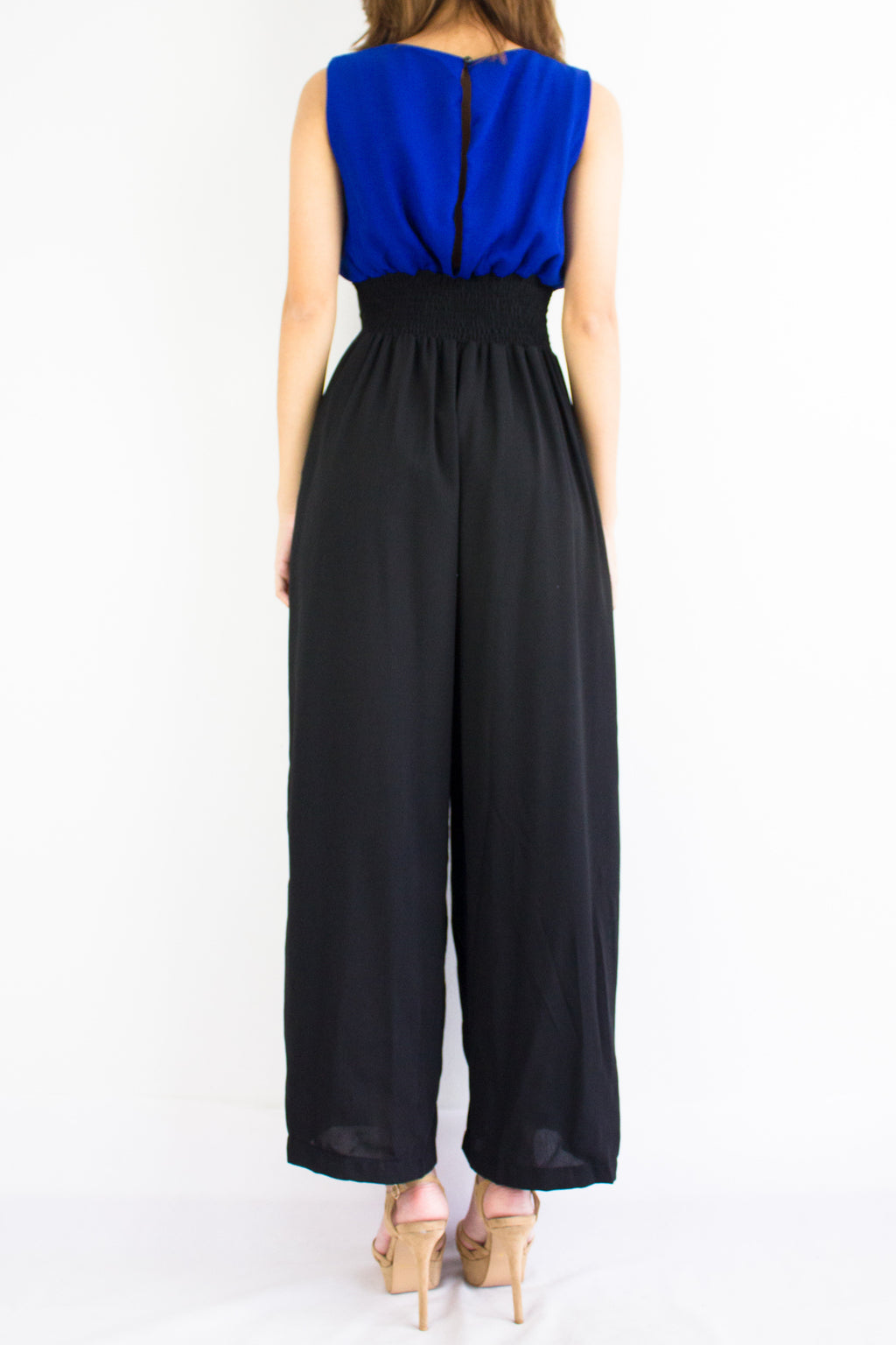 Dana Duotone Jumpsuit in Royal Blue - BOTTOMS - Peep Boutique