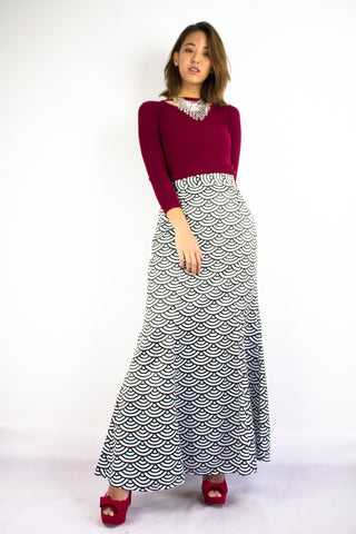 Shellie Mermaid Skirt in Black