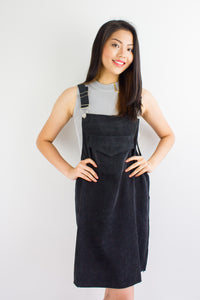 In Ac-Cord Midi Pinafore in Black - DRESSES - Peep Boutique