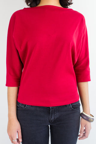 Oakley Oversized Top in Bright Red