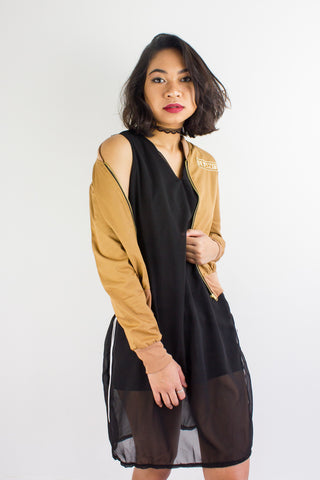 Commander Femme Bomber Jacket in Camo Brown