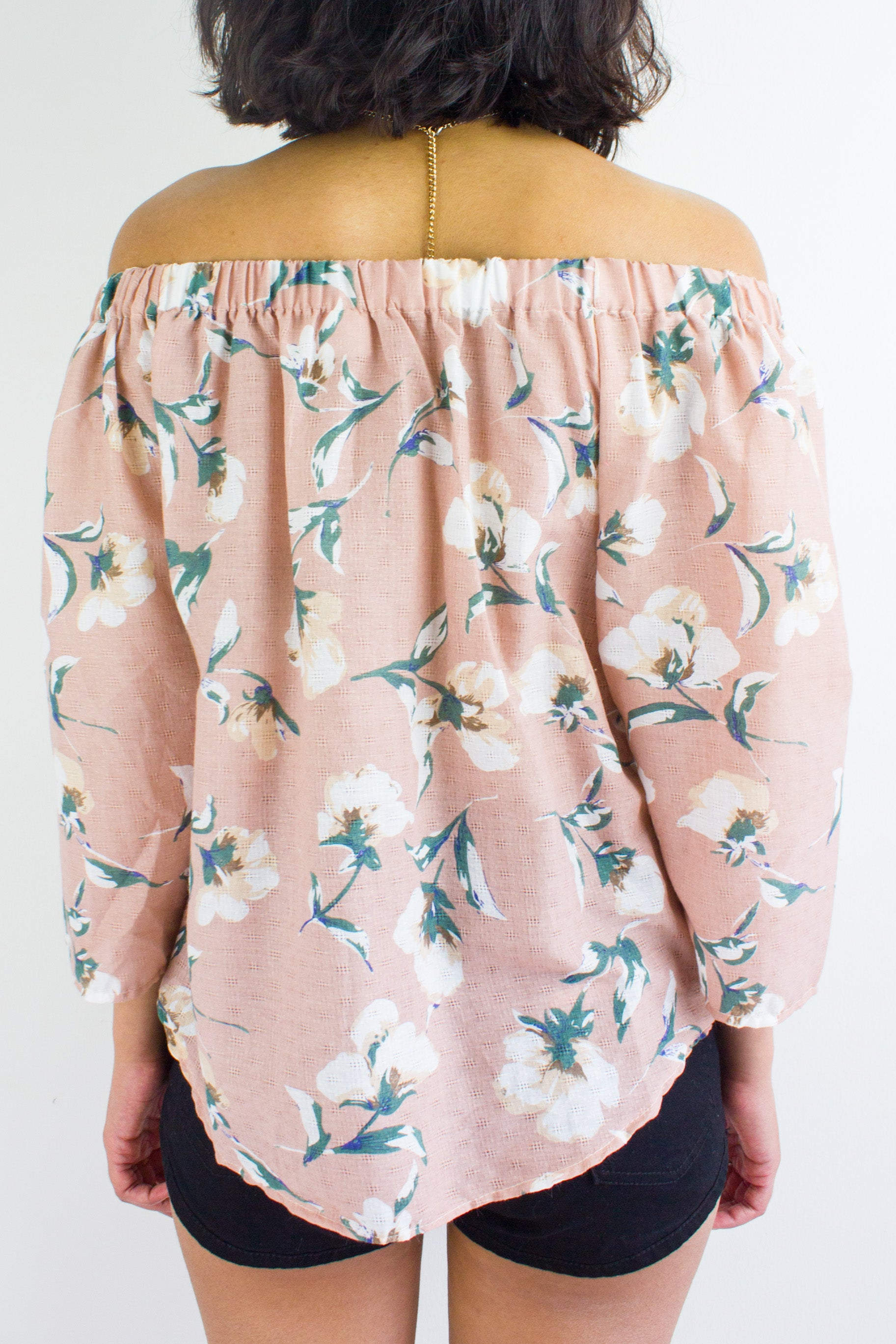 Summertime Sadness Floral Top in Dusty Pink