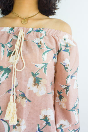 Summertime Sadness Floral Top in Dusty Pink - TOPS - Peep Boutique