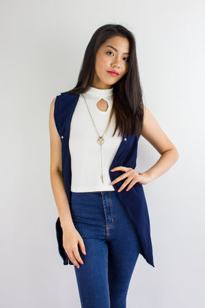Peep Hole Top in White - TOPS - Peep Boutique
