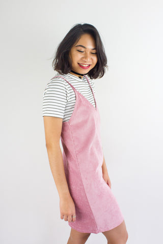 Cords & Lines Two Piece Slip Dress in Pink